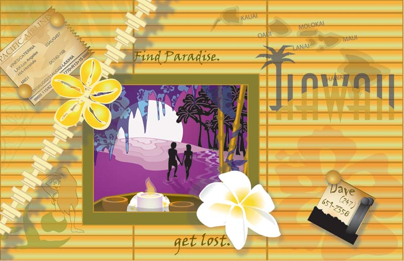 Hawaii Scrapbook in Illustrator